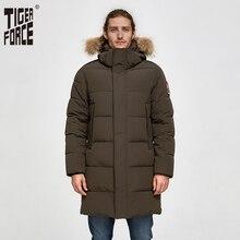 TIGER FORCE Men Winter Jacket Men Parka Padded Coat Detachable Hooded Men's Winter Coat Artificial Fur Thicken Alaska Jacket цена