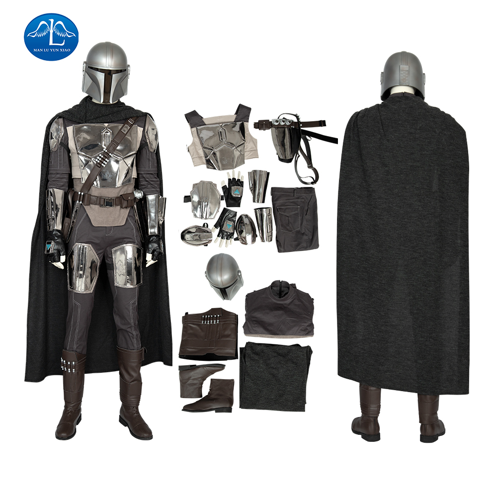 Star Wars The Mandalorian Cosplay Costume Crisis On Infinite Earth Pedro Pascal Soldier Warrior Helmet PVC Masquerade