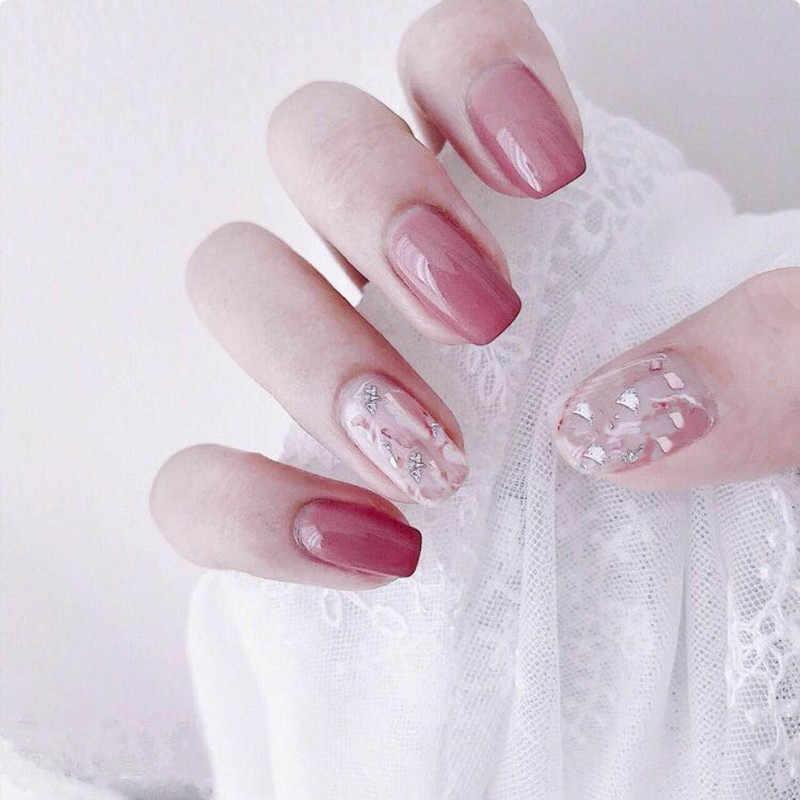 14 porady naklejki kolorowe samoprzylepne naklejane ozdoby do paznokci okłady gorąca sprzedaż moda lakier do paznokci Stickes Manicure Full Wrap Tools dekoracje
