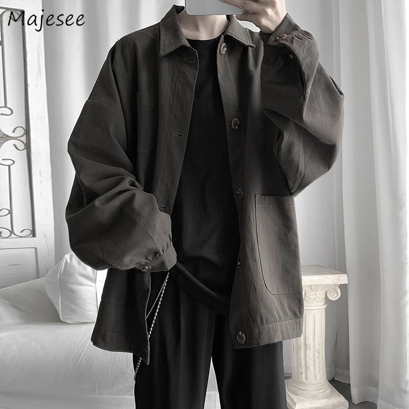Cargo Jackets Men Oversize 2XL Streetwear Daily Coat Casual BF Loose All-match Harajuku Kpop Mens Top Chic Fashionable Ulzzang
