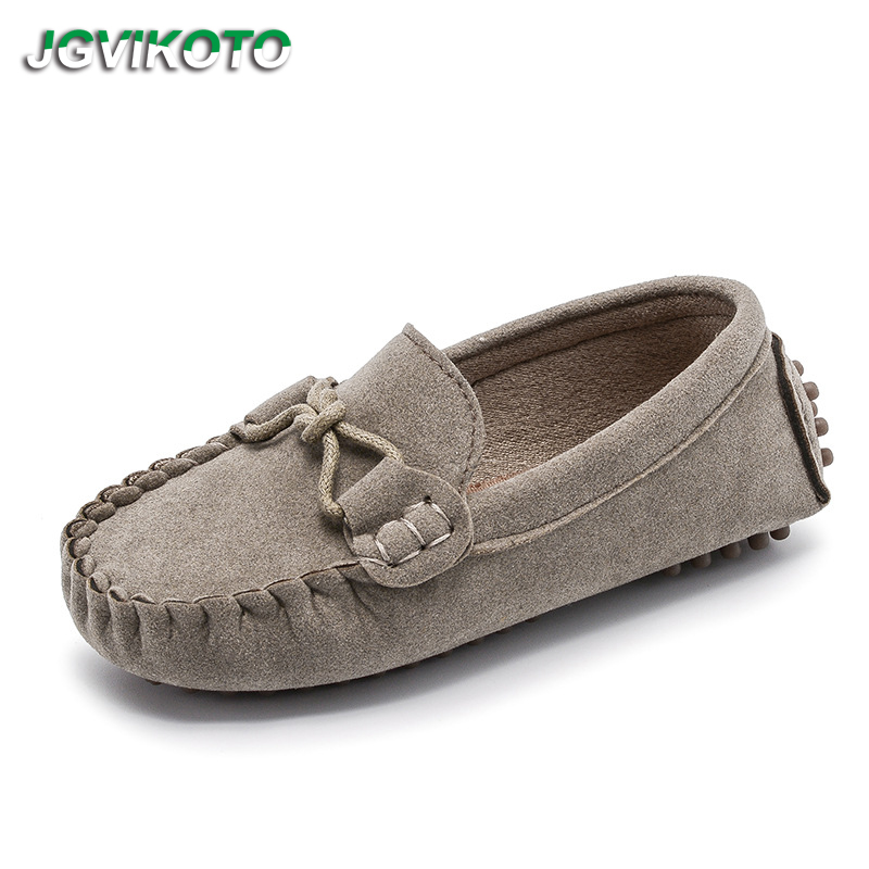 JGVIKOTO Toddlers Shoes Fashion Soft Kids Loafers Children Flats Casual Boat Shoes Boys Girls Wedding Moccasins Leather Shoes