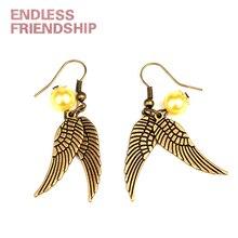 Vintage Fine Handmade Snitch Earrings For Women Simple Personality Ear Fashion Jewelry Dangle Earrings Dropshipping
