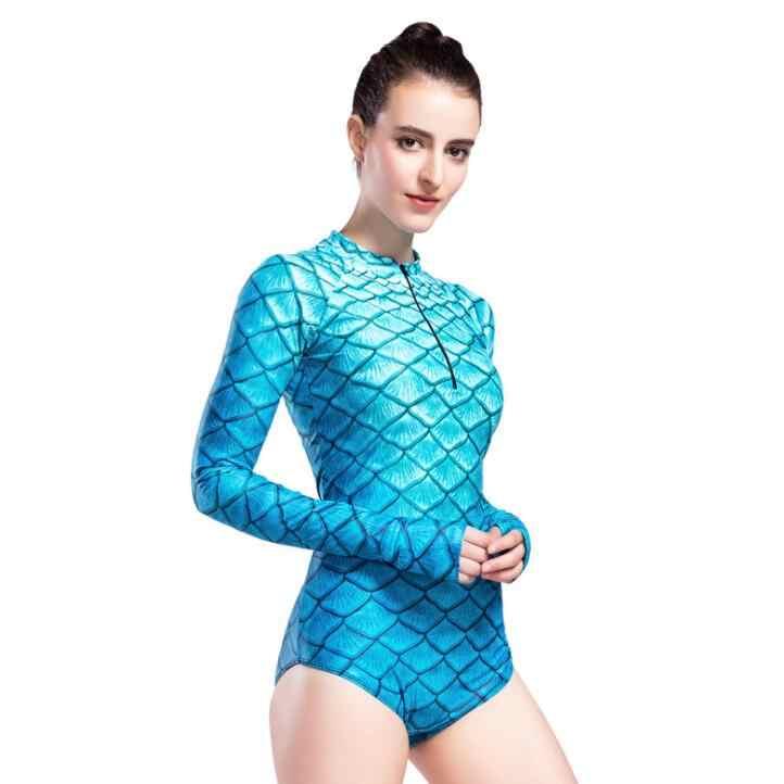 Nieuwe badpak, vrouwen gestreepte badpak, duikpak, surfen kleding, zonnebrandcrème kwallen, gratis duikpak, Mermaid Kostuum.