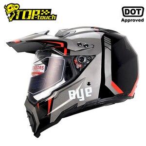 Image 1 - BYE Moto rcycle kask Moto çapraz kask kasko moto Moto rbike yarış Moto kask Biker tam yüz kask ECE DOT sertifikası