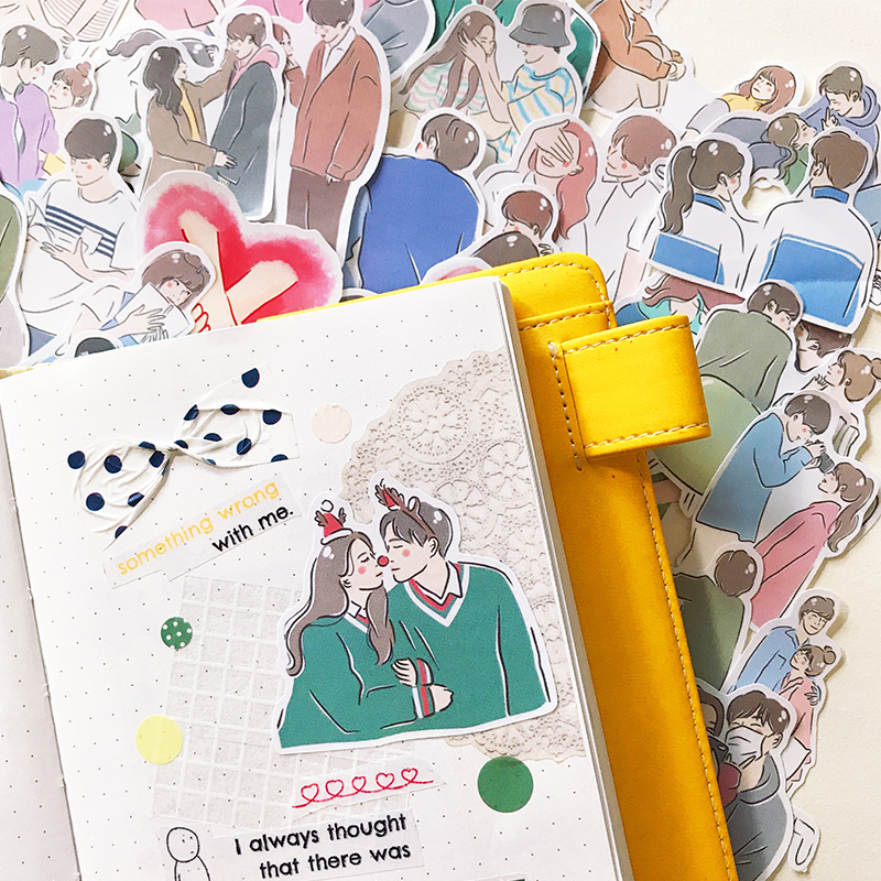 42 pces casal amor adesivos/scrapbooking adesivos/adesivo decorativo/diy artesanato álbuns de fotos
