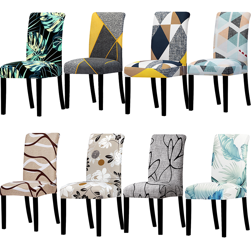 Universal Size Big Elastic Chair Cover Christmas Cheap Stretch Chair Cover Seat Slipcovers For Dining Room Hotel Banquet Home