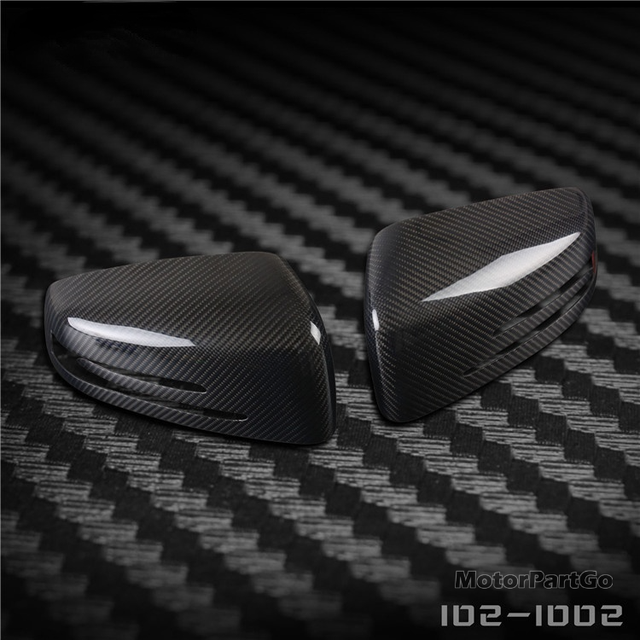 Real Crabon Fiber Mirror Cover 1 pair for Mercedes Benz x204 2008-2016 2