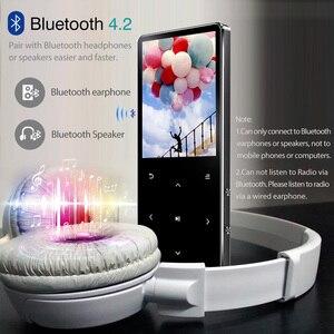 Image 3 - ICEICE Reproductor de MP3 con Bluetooth hifi sin pérdidas mini reproductor de música con radio fm auriculares, deporte MP 3 metal walkman dap