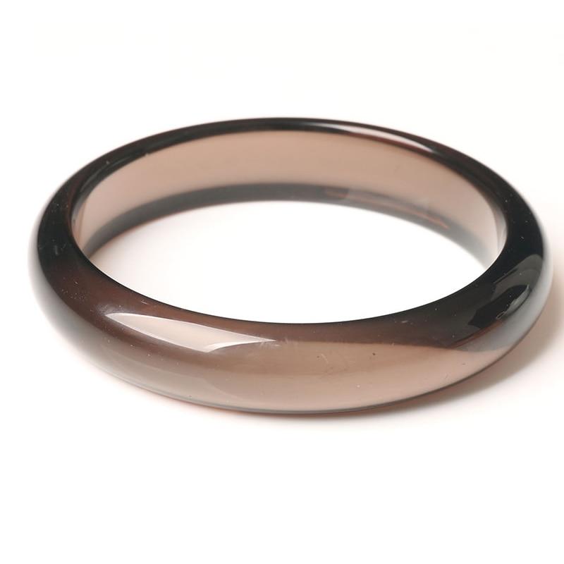 Ice Black Obsidian Natural Stone Crystal Bracelet Fashion Jewelry Women Bangles Inner Diameter 55-62mm Men Luxury Bangle
