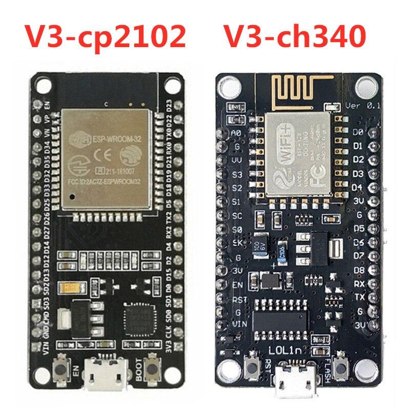 Беспроводной модуль V3 CH340/CP2102 NodeMcu V3 Lua WIFI Интернет вещей Board на основе ESP8266 ESP 12E для Arduino|Интегральные схемы|   | АлиЭкспресс