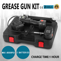 18 Volt cordless Grease Gun one hour fast charger, C/W 2 Batteries ,Max 10,000PSI