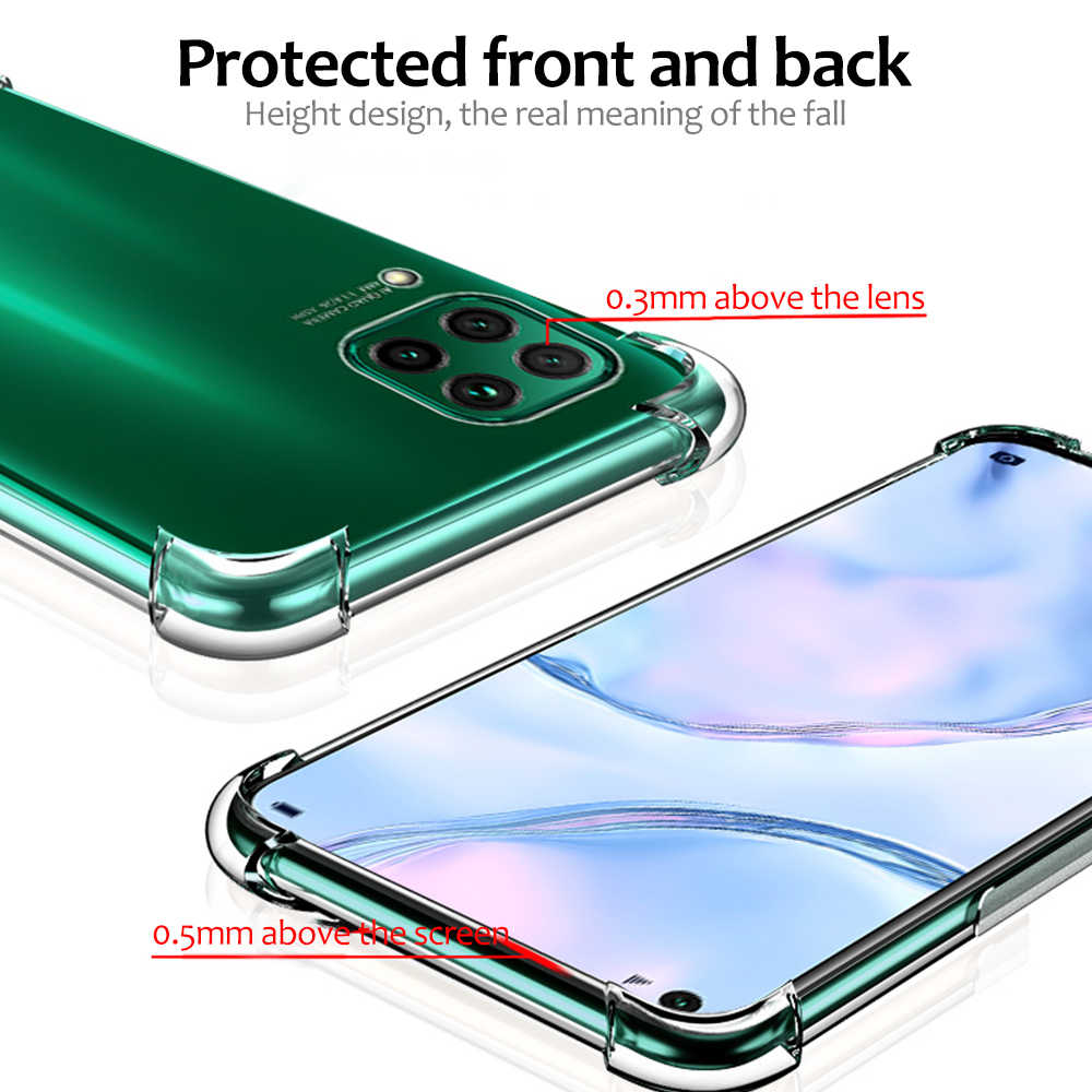 Shockproof Airbag Clear Case For Huawei P40 P30 P20 Mate 20 30 10 Lite P Smart Plus 2019 P10 Transparent TPU Case For Huawei P40