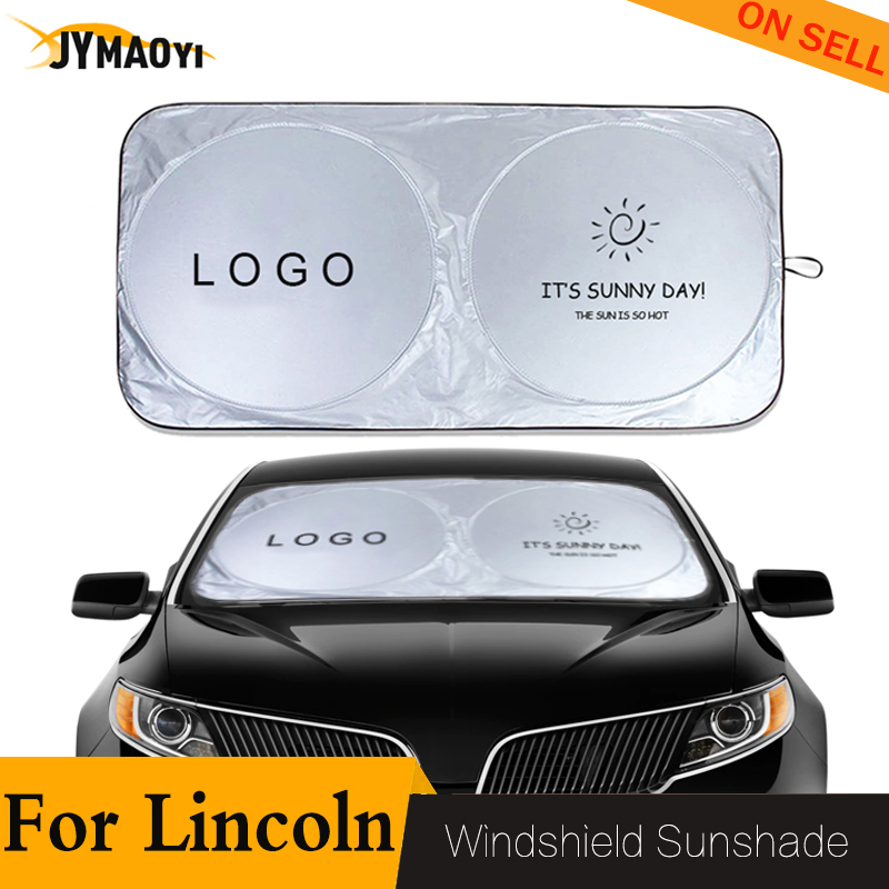 For Lincoln windshield sun protector car logo shade front window sunshade sun blind cover block protection easy to store 2020