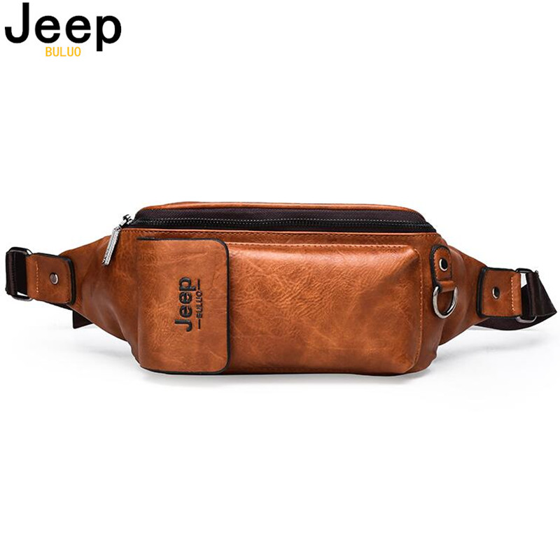 JEEP BULUO Fanny Pack For Men And Women Water Resistant Fashion Waist Bag With Adjustable Belt Waist Pack For Outdoor Running