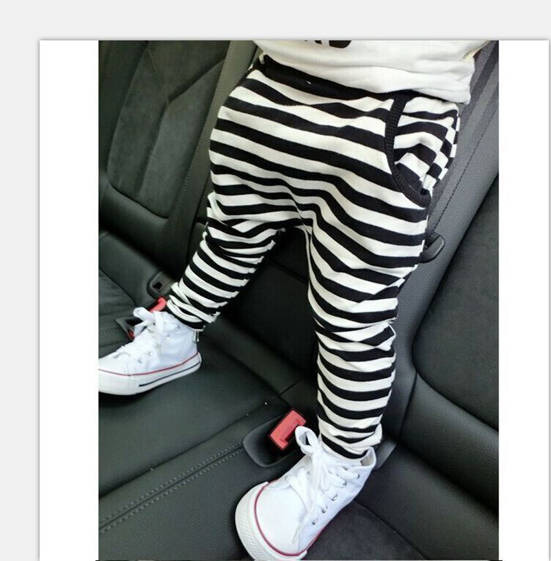 Pants Baby-Girls Trousers Cotton Children For Boys Stripe Size90 130 Hot-Sale
