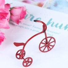 1/12 мини Красный велосипед моделирование модель велосипеда игрушки для кукольного дома украшения мебели игрушки милый кукольный домик Мини...