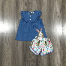 Children Rabbit-Outfits Girlymax Easter Bunny Ruffles-Boutique Baby-Girls Shorts Floral