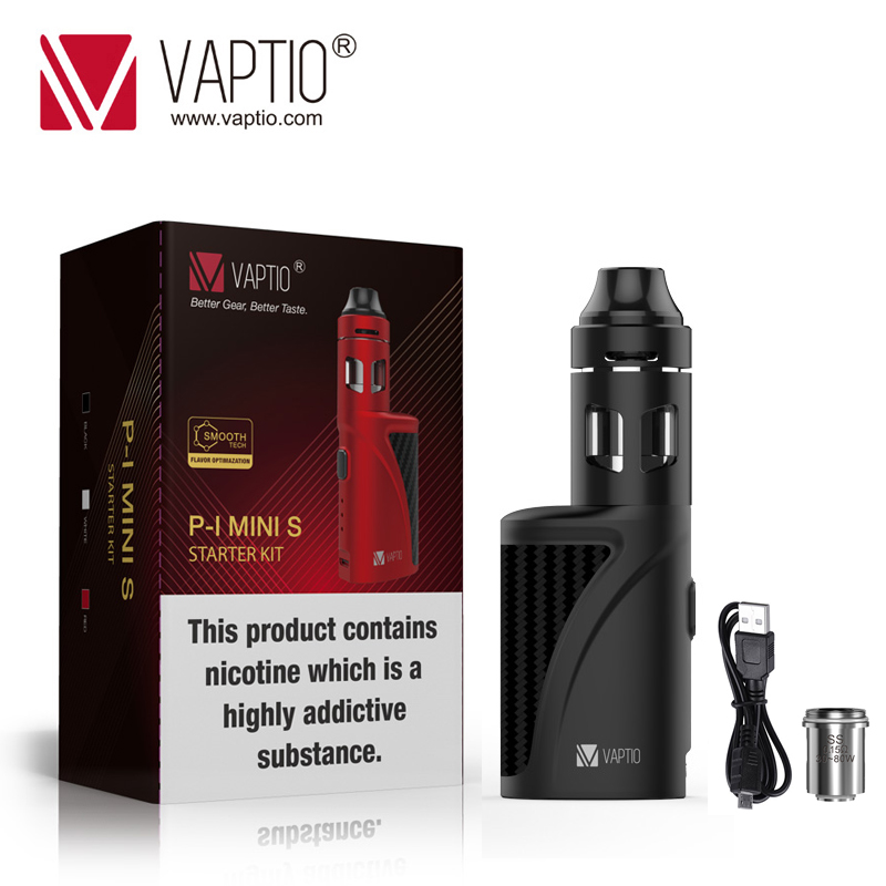 Gift 5pcs Coils! Vaptio P1 Mini S Kit With 1300mAh Built In Battery Vape Mod 50W Vape KIT 2.0ML Atomizerl Vaporizer E Cigarette