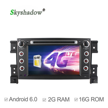 C500 4G SIM LTE 2G RAM Quad Core Android 6.0 Car DVD Player for SUZUKI GRAND VITARA 2005-2010 2009 2011 RDS Radio wifi Bluetooth