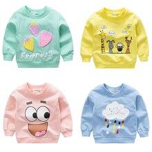 Свитшоты для маленьких девочек; коллекция года; сезон зима-весна-осень; детские толстовки с капюшоном; свитер с длинными рукавами; детские пуловеры; детская верхняя одежда