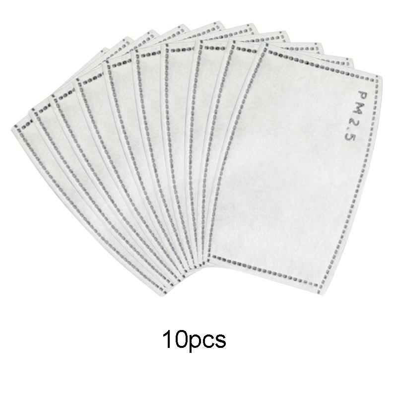 10 шт. 5-слойный одноразовый фильтр для маски PM2.5 фильтр с активированным углем маска для защиты от пыли фильтр для маски для рта фильтр