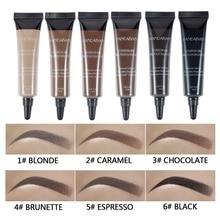Eyebrow Enhancer Makeup Gel Black Brown Waterproof Liquid Dye Cream Eye Brow Tint Brush Set Natural