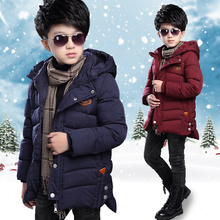 2019 Baby children thick warm down jacket jacket boy coat coat boy new fashion hooded jacket children cotton boy cotton coat cheap NoEnName_Null Novelty Long Fur collar Down Parkas Fits true to size take your normal size Outerwear Coats Double Breasted