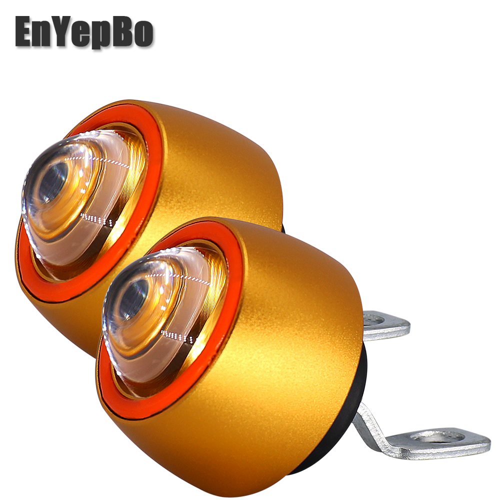 Pair Motorcycle Led Lights Mini Size Angel Eyes Motorbike Headlight Spotlights Headlamp Moto Spot Head Bulb DRL 12V
