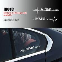 2 uds estilo de coche ventana lateral de PVC decoración pegatina para Mercedes-Benz AMG W108 W124 W126 W140 W168 W169 W221 W222 C180 C200 C260 C300