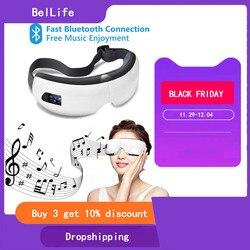 VIBRADOR ELÉCTRICO inteligente Bluetooth música ojos masaje Dispositivo de cuidado masajeador de ojos presión de aire caliente comprimir gafas de masaje cansado