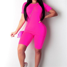 Sexy Women Two Piece Outfits Bodycon Bandage Women Sets Short Sleeve To