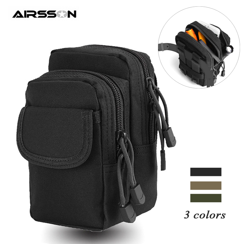 Tactical Molle Pouch Belt Waist Bag 1000D Portable Military Phone Pouch Utility EDC Gear Outdoor Hunting Accessory Storage Bags