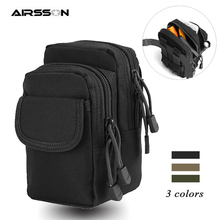 Tactical Molle Pouch Belt Waist Bag 1000D Portable Military Phone Pouch Utility EDC Gear Outdoor Hunting Accessory Storage Bags tactical military fans molle pouch belt waist pack storage bag outdoor sports military storage bags