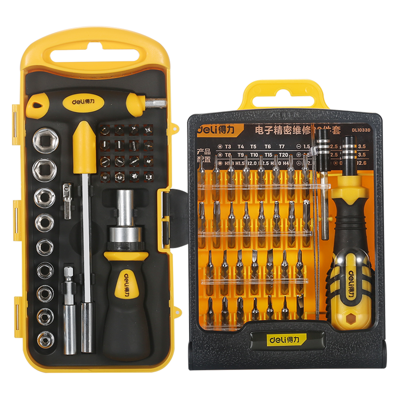 DELI  Screwdriver Set Magnetic Screwdriver Bit Torx Multi Mobile Phone Repair Tools Kit Electronic Device Hand Tool