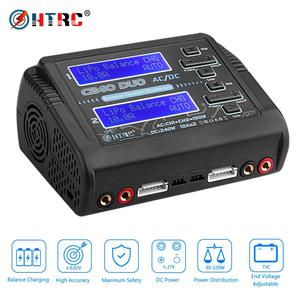 Image 1 - HTRC Lipo Charger C240 Duo AC/DC 150W/240W Dual Channel 10A DischargerสำหรับLiHV LiFe lilon NiCd NiMh Pb Battery Balance Charger