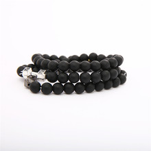 New Fashion Beaded Women Men Bracelets Simple Classic Round Bead Charm & Bangles For Handmade Accessories Gift