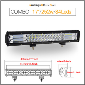 "Image 3 - Auxtings 5 ""14"" 17 ""20"" 23 3 שורת אור LED בר Offroad Led בר קומבו Beam Led עבודה בר אור למשאית SUV טרקטורונים 4x4 4WD 12v 24V"