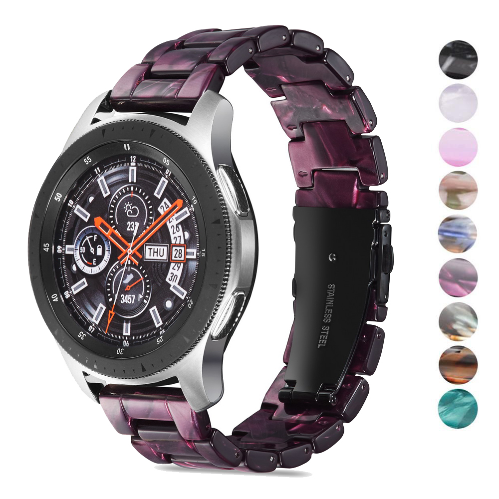 Colorful-Resin-Band-for-Samsung-Gear-Sport-Galaxy-Watch-42mm-Active-Strap-20mm-Resin-Stainless-Steel 拷贝