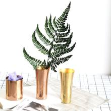 Stainless steel gold vase vase European coffee beer mug Nordic ins creative household supplies water cup storage tube vase(China)