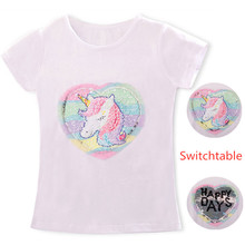 Детская летняя футболка детская футболка с принтом в виде лица единорога для девочек забавная Одежда для маленьких девочек футболки для маленьких девочек