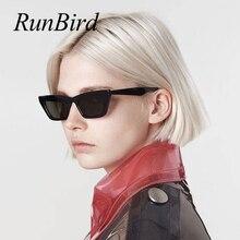 RunBird Rectangle Sunglasses Women Brand Designer 2019 Fashi
