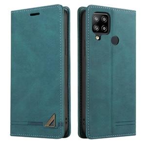 Image 2 - For Realme C11 C 15 Flip Case Magnet Texture Leather Shield RFID Blocking 360 Protect for OPPO Realme C15 Case Realmi C 11 Funda