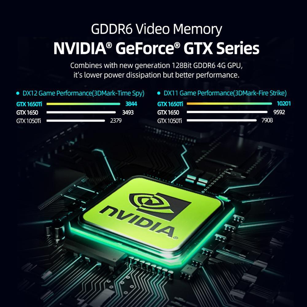 Machenike T90 T58 Gaming Laptop intel i7 10th Gen 15.6 FHD Laptop GTX1650 Computer Laptops 16G RAM 512G SSD 1T HDD Notebook IPS 2
