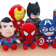 10-25 см Marvel Мстители мягкие чучела супер герой Капитан Америка Железный человек паук Плюшевые игрушки фильм куклы для детей подарок на день рождения