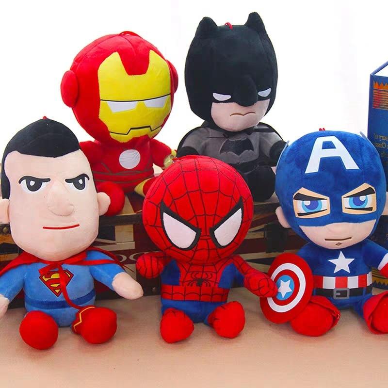 10-25cm Marvel Avengers Soft Stuffed Super Hero Captain America Iron Man Spiderman Plush Toys Movie Dolls For Kid Birthday Gift