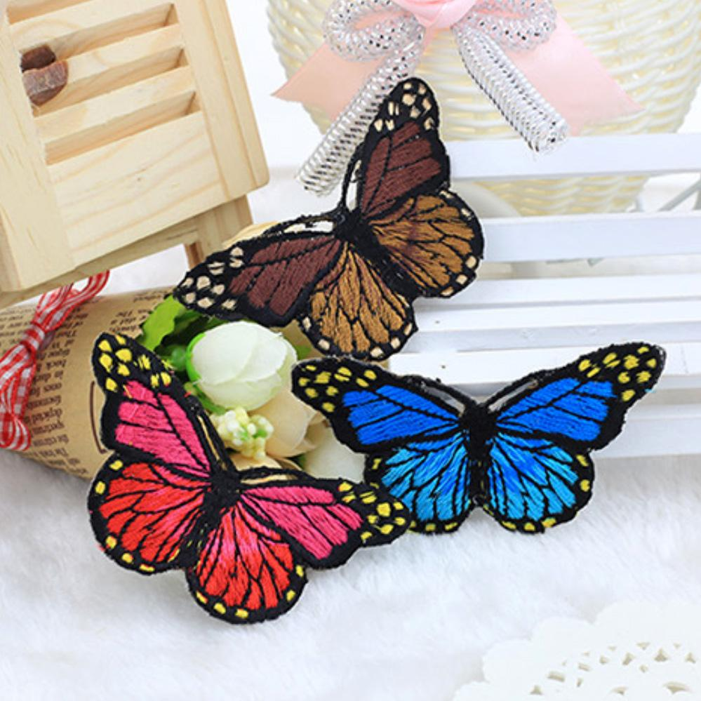 10Pcs/Set Multicolor Butterfly Unique Design Embroidery Applique Patch Stickers Diy Clothes Decor Apparel Accessories