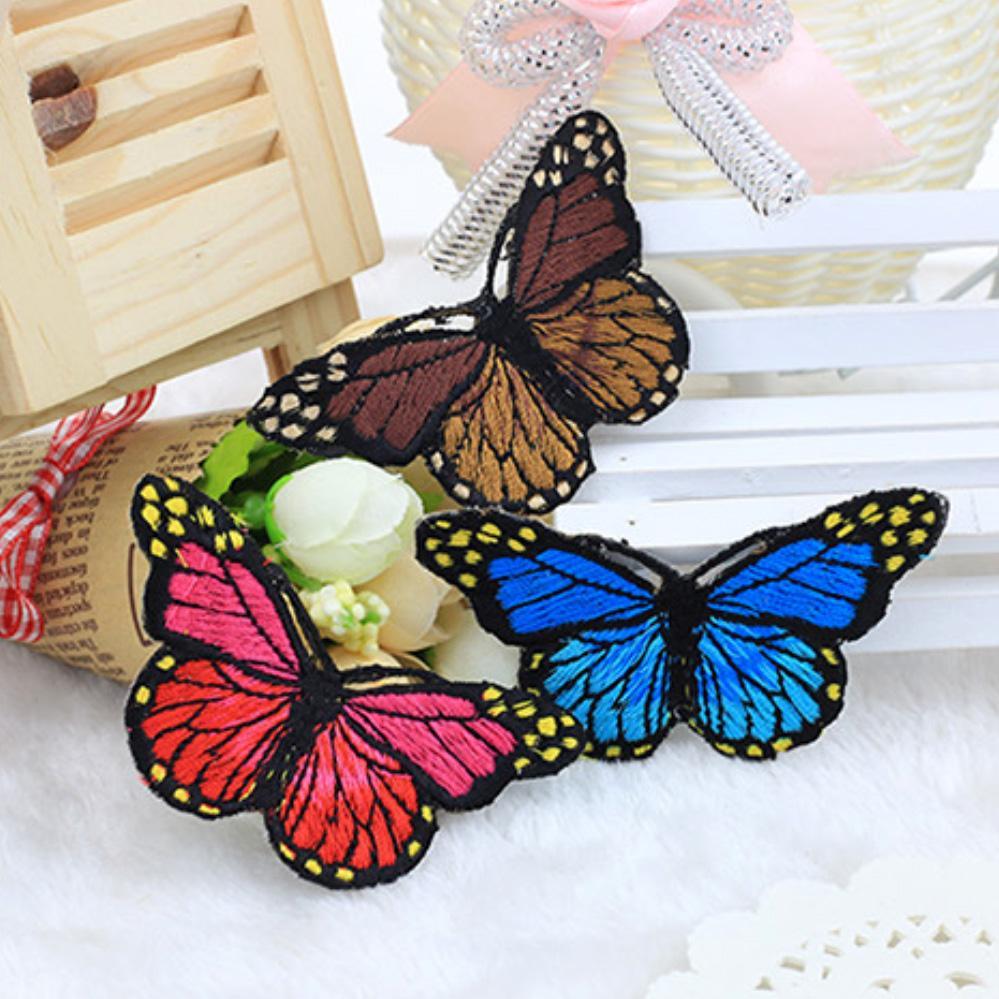 10Pcs/Set Multicolor Butterfly Unique Design Embroidery Applique Patch Stickers Diy Clothes Decor Apparel Accessories