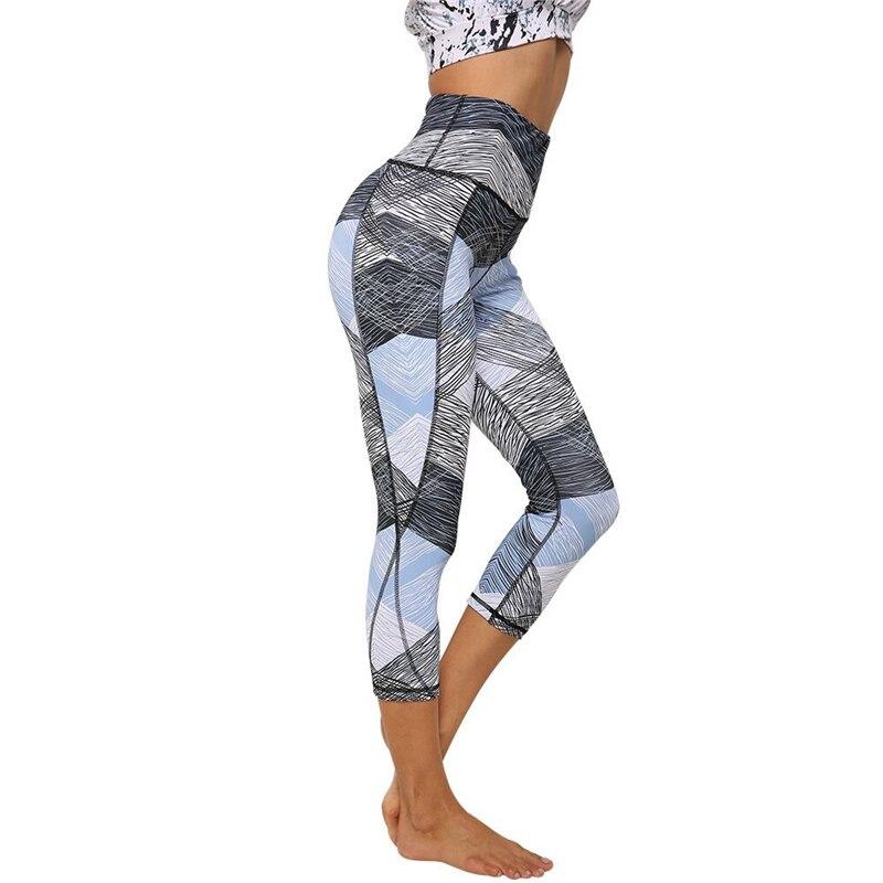 Pakaian Olahraga Untuk Wanita Gym Celana Legging Putih Biru Kasual Olahraga Ffitness Push Up Hip Celana Yoga Delapan Celana Yoga Pants Aliexpress