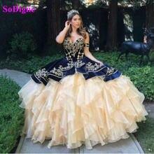Sodigne бархатное бальное платье Бальные платья 2021 с кружевом