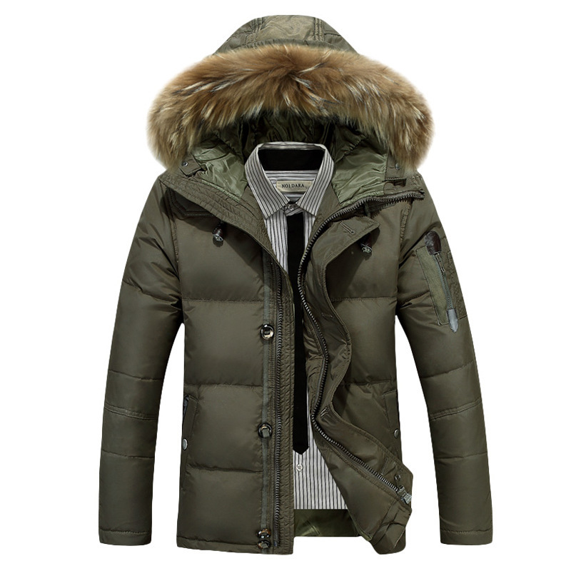 Мужская Новинка 2019, пуховик, повседневная мужская зимняя куртка, ветровка, белая куртка на утином пуху, Мужская толстовка/пальто для мужчин/Мужское пальто - 5